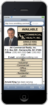 ArnoldKing.com Mobile