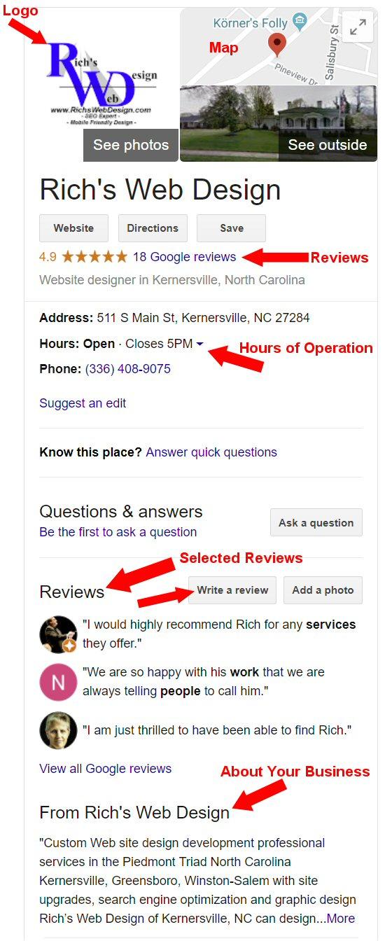 Google My Business' - Setup - Rich's Web Design