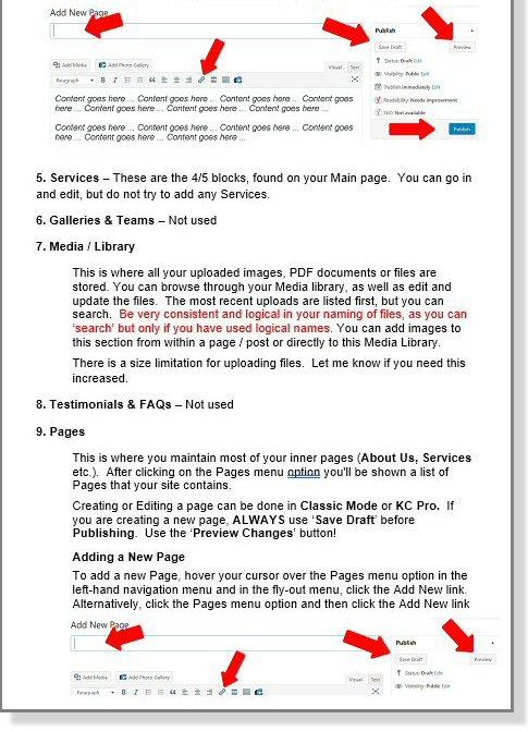 WordPress Admin Document